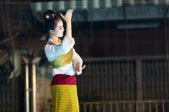 dansa thai traditionellt Royaltyfri Foto