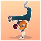 Dansa ungen Barn med rörelsehindrad aktivitet royaltyfri illustrationer