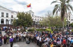 Dansant à Quito, l'Equateur Image libre de droits