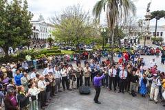 Dansant à Quito, l'Equateur Photographie stock
