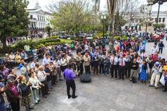 Dansant à Quito, l'Equateur Photographie stock libre de droits