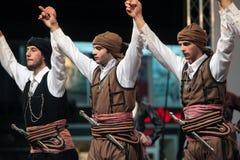 dansar traditionella thrace Arkivbilder