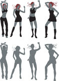 dansare royaltyfri illustrationer