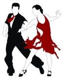 dansare stock illustrationer