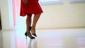 Dansare In Classic Costumes i dansstudio stock video