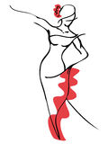 dansare dansar spanjor för illustration för ventilatorflamencoflicka Royaltyfri Foto
