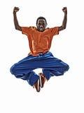 Dansare för avbrott för höftflygtur som akrobatisk breakdancing banhoppningsi för ung man Arkivbilder