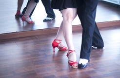 Dansare för balsaldans Arkivfoto