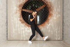 Dansare för gatadansflicka Royaltyfri Fotografi