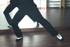 Dansare för man för balsaldans Arkivfoto