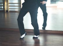 Dansare för man för balsaldans Arkivbild