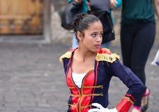 Dansare för militär musikband för skola Arkivfoton