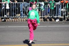 Dansare för St Louis St Patrick Day Parade 2019 V arkivbilder