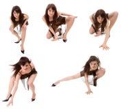dansare går Fotografering för Bildbyråer