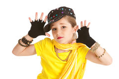 Dansare: Hip Hop dansare Makes Jazz Hands Arkivbilder