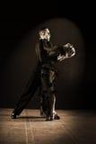 Dansare i balsal på svart Arkivbilder