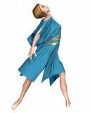 Dansare i Blue Arkivbild