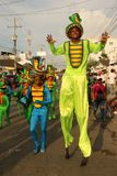 Dansare i en fiesta i Cartagena, Colombia Fotografering för Bildbyråer