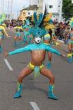Dansare i en fiesta i Cartagena, Colombia Royaltyfria Foton