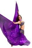 Dansare i en silverdräkt Royaltyfria Foton