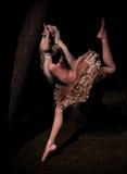 Dansare i träna Royaltyfri Foto