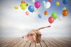 Dansare med ballonger Royaltyfri Fotografi