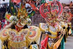 Dansare på den Oruro karnevalet i Bolivia 免版税库存图片