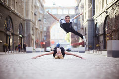 Dansare på gatan royaltyfri foto