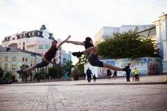 Dansare på gatan fotografering för bildbyråer