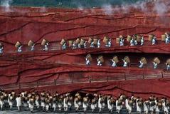 Dansare på intrycket Lijiang Royaltyfria Bilder