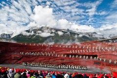 Dansare på intrycket Lijiang Royaltyfria Foton