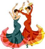 dansare Sevillanas vektor illustrationer