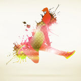 Dansare Silhouette royaltyfri fotografi