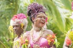 Dansare Solomon Islands royaltyfri fotografi