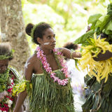 Dansare Solomon Islands Royaltyfri Foto