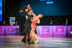 Dansare som dansar standard dans Royaltyfria Bilder