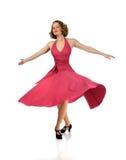 dansare som utför twirl Arkivfoto