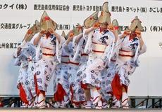 dansarefestivaljapan Arkivbilder