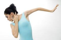 dansareflickastående Arkivbild