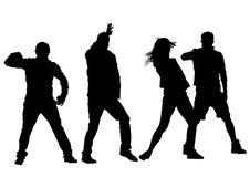 Dansarefolk tre Arkivbild