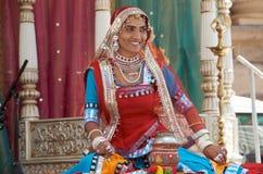 dansarefolkrajasthani Royaltyfri Fotografi