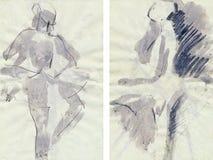 dansaregrunge royaltyfri illustrationer