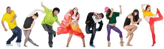dansaregrupp Royaltyfri Bild