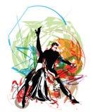 dansareillustration Arkivbilder