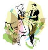 dansareillustration Arkivbild