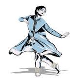 dansareindier stock illustrationer