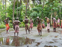 dansareinföding vanuatu Arkivbild