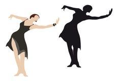 dansarekvinnligillustration Arkivfoto