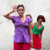 Dansareordstävhälsningar arkivbilder