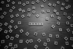 Dansbokstäver Arkivfoton